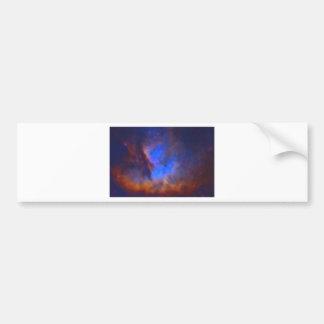 Adesivo De Para-choque Nebulosa galáctica abstrata com nuvem cósmica 2