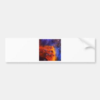 Adesivo De Para-choque Nebulosa galáctica abstrata com nuvem cósmica 5