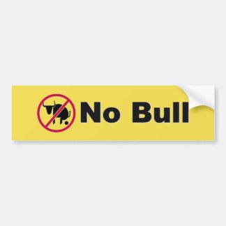Adesivo De Para-choque Nenhum autocolante no vidro traseiro de Bull