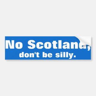 """Adesivo De Para-choque """"Nenhum Scotland, não é parvo."""" Etiqueta abundante"""