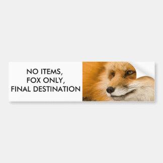 Adesivo De Para-choque Nenhuns artigos, Fox somente, destino final