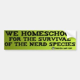 Adesivo De Para-choque Nerd de Homeschool