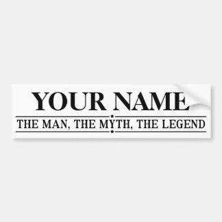 Adesivo De Para-choque Nome personalizado o homem o mito a legenda