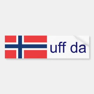 Adesivo De Para-choque Norueguês engraçado de Uff a Dinamarca Noruega