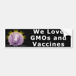Adesivo De Para-choque Nós amamos GMOs e autocolante no vidro traseiro