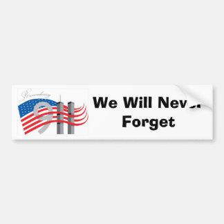 Adesivo De Para-choque Nós nunca esqueceremos o símbolo 9-11