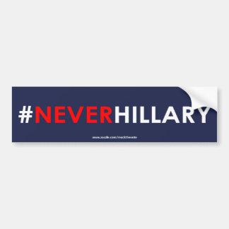 Adesivo De Para-choque Nunca #NEVERHILLARY do autocolante no vidro
