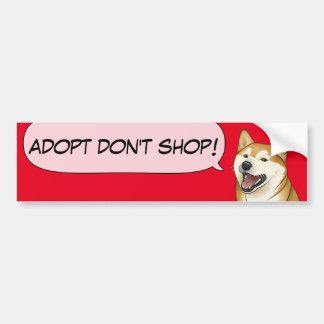 Adesivo De Para-choque O amor de Shiba Inu adota um cão do abrigo!