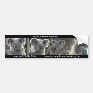 Adesivo De Para-choque O autocolante no vidro traseiro adota um Koala