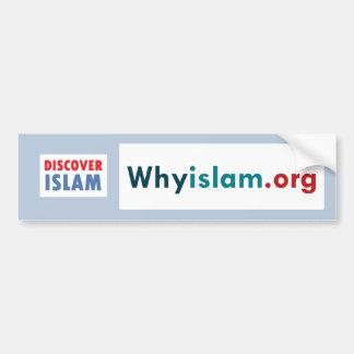 Adesivo De Para-choque O autocolante no vidro traseiro descobre o Islão