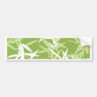 Adesivo De Para-choque O bambu verde sae do teste padrão original