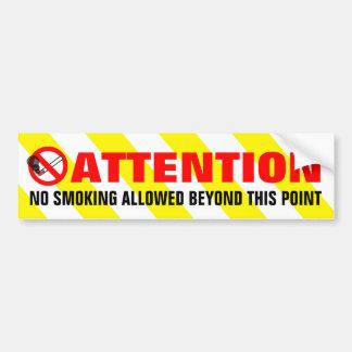 Adesivo De Para-choque O branco amarelo listra o aviso não fumadores da