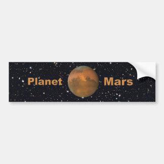 Adesivo De Para-choque O céu estrelado de Marte do planeta vermelho