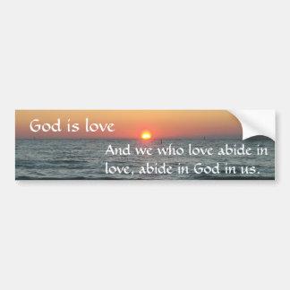 Adesivo De Para-choque O deus é amor