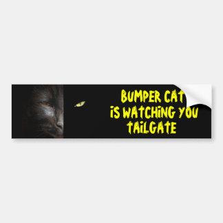 Adesivo De Para-choque O gato abundante está olhando-o a bagageira 37
