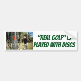 """Adesivo De Para-choque """"O golfe real"""" é jogado com etiqueta dos DISCOS"""