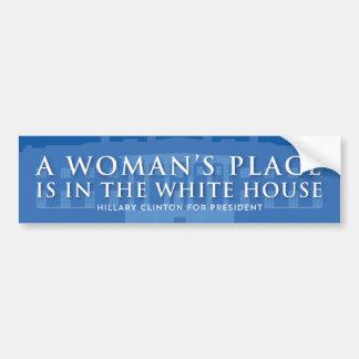 Adesivo De Para-choque O lugar de uma mulher está na casa branca |