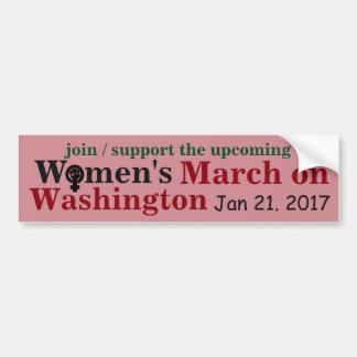 Adesivo De Para-choque O março das mulheres em Washington