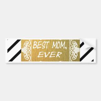 Adesivo De Para-choque O melhor presente do ouro do dia das mães da mamã
