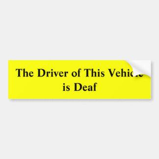 Adesivo De Para-choque O motorista deste veículo é autocolante no vidro
