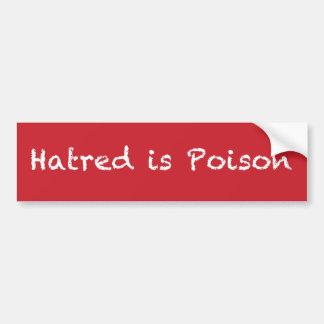 Adesivo De Para-choque O ódio é bumpersticker do giz-estilo do veneno