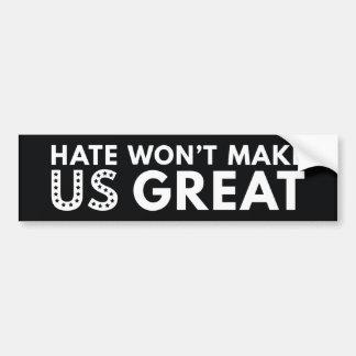Adesivo De Para-choque O ódio não fará o excelente dos E.U.