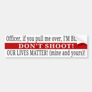 Adesivo De Para-choque O oficial, não dispara! MATÉRIA DE AMBAS NOSSA