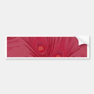 Adesivo De Para-choque O pavão cor-de-rosa bonito empluma-se o teste