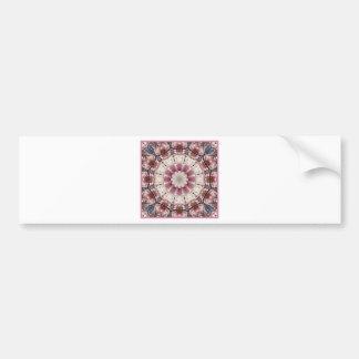 Adesivo De Para-choque O primavera branco floresce 2,0, estilo da mandala