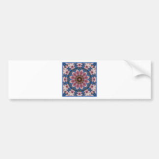 Adesivo De Para-choque O primavera cor-de-rosa floresce 2.2.2, mandala da