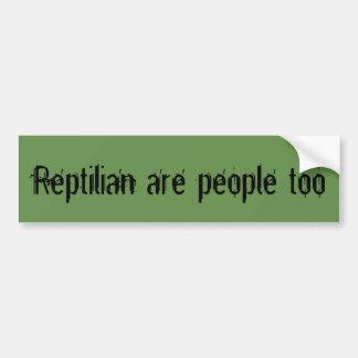Adesivo De Para-choque O Reptilian é pessoas demasiado