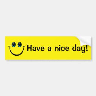 Adesivo De Para-choque O smiley face tem um dia agradável