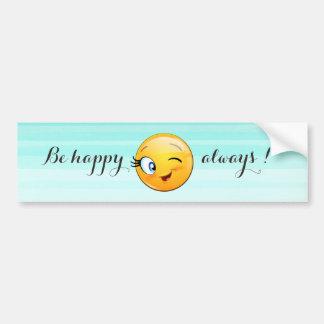 Adesivo De Para-choque O smiley pisc adorável Emoji Cara-Está feliz