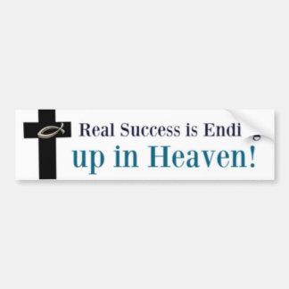 Adesivo De Para-choque O sucesso real está terminando acima no céu