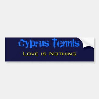 Adesivo De Para-choque O tênis de Chipre, amor não é nada