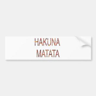 Adesivo De Para-choque O vintage africano colore Hakuna Matata.