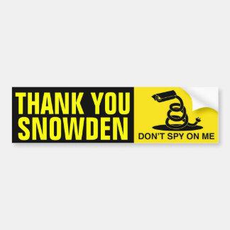 Adesivo De Para-choque Obrigado Snowden