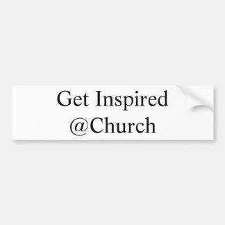 Adesivo De Para-choque Obtenha a etiqueta inspirada do @Church
