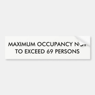 Adesivo De Para-choque Ocupação máxima