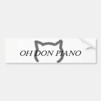 Adesivo De Para-choque Oh autocolante no vidro traseiro do piano de Don