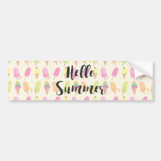 Adesivo De Para-choque Olá! Popsicles e sorvete do verão