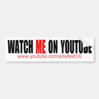Adesivo De Para-choque Olhe-me em YouTube   modernos (escuro)