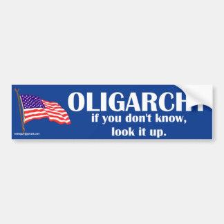 Adesivo De Para-choque oligarquia