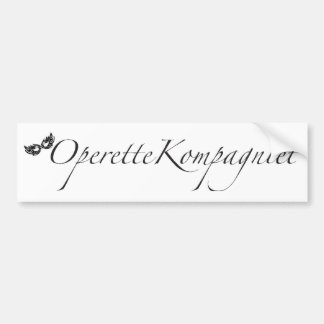 Adesivo De Para-choque OperetteKompagniet Dinamarca