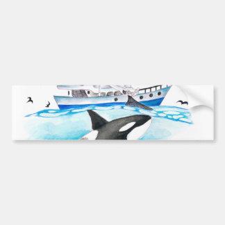 Adesivo De Para-choque Orca e o barco