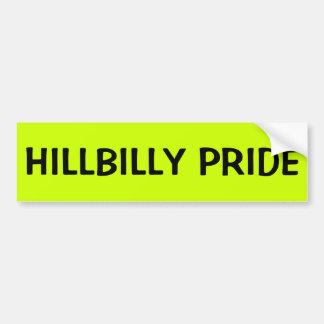 ADESIVO DE PARA-CHOQUE ORGULHO DO HILLBILLY