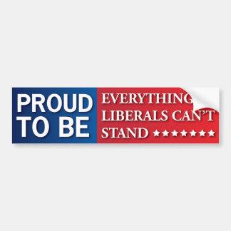 Adesivo De Para-choque Orgulhoso ser tudo liberais não pode estar! GOP!