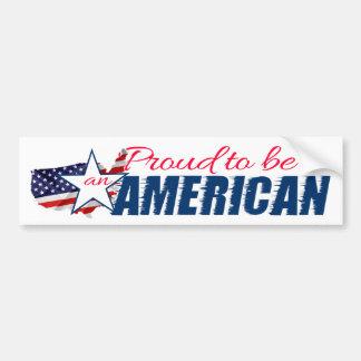 Adesivo De Para-choque Orgulhoso ser um americano