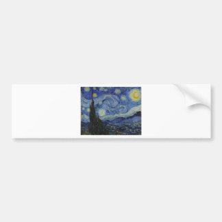 Adesivo De Para-choque Original a pintura da noite estrelado