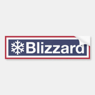Adesivo De Para-choque Os blizzard são feitos dos flocos de neve